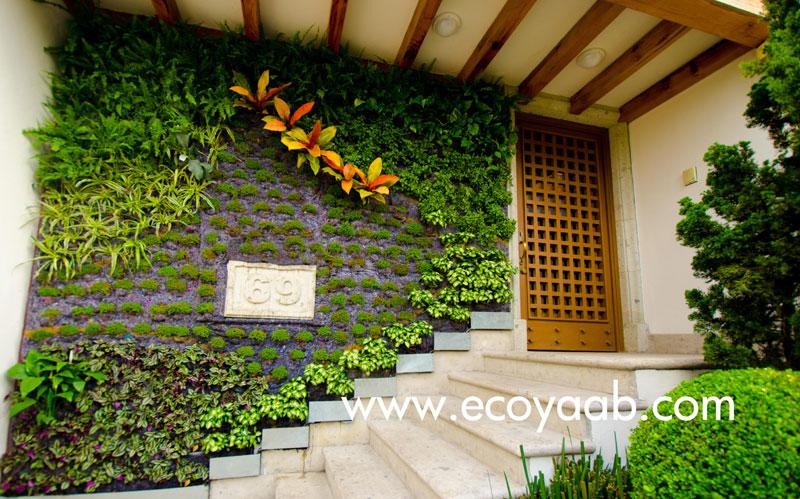 Jardines verticales en m xico ciudad de m xico sylvia llano - Muros para jardin ...