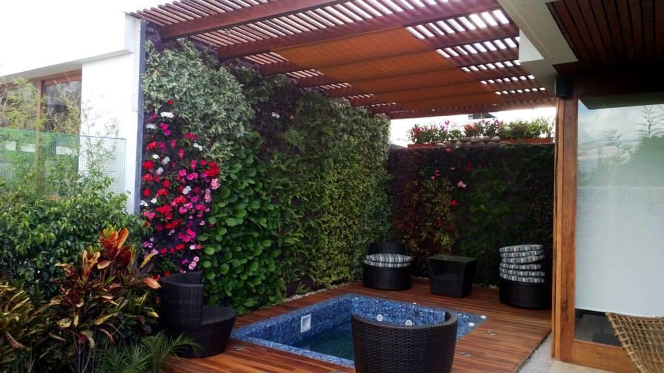 Miguel ter n jardines verticales en ecuador quito Jardines verticales para patios pequenos