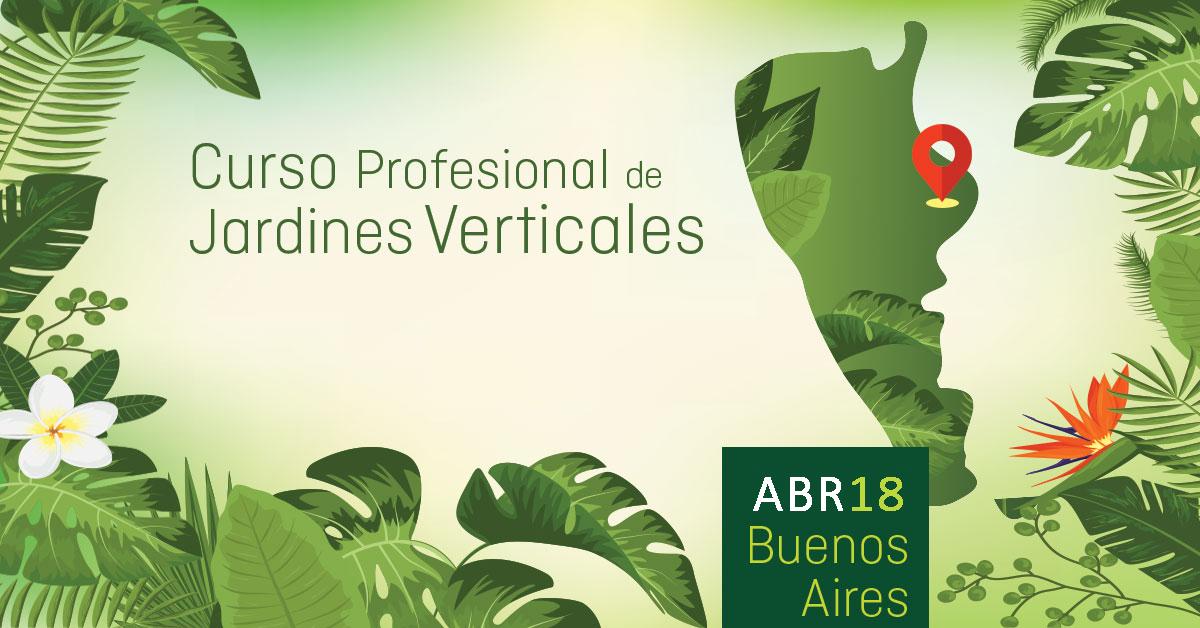 Curso de jardines verticales en argentina for Jardines verticales buenos aires