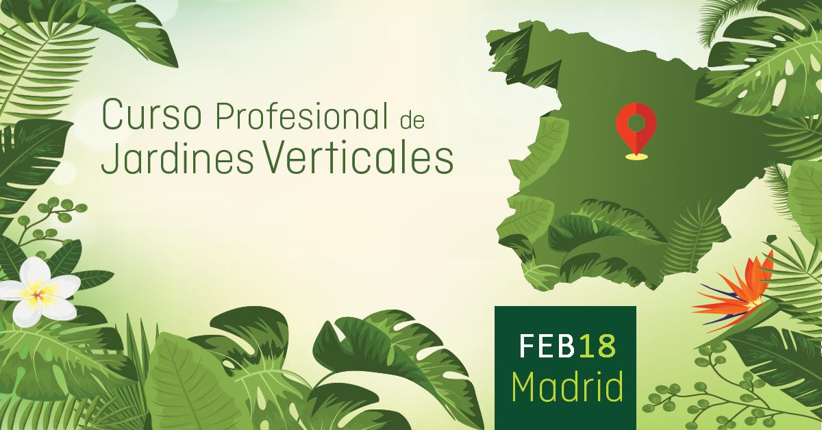 Curso de jardines verticales en espa a inscr bete online for Jardines verticales ecuador