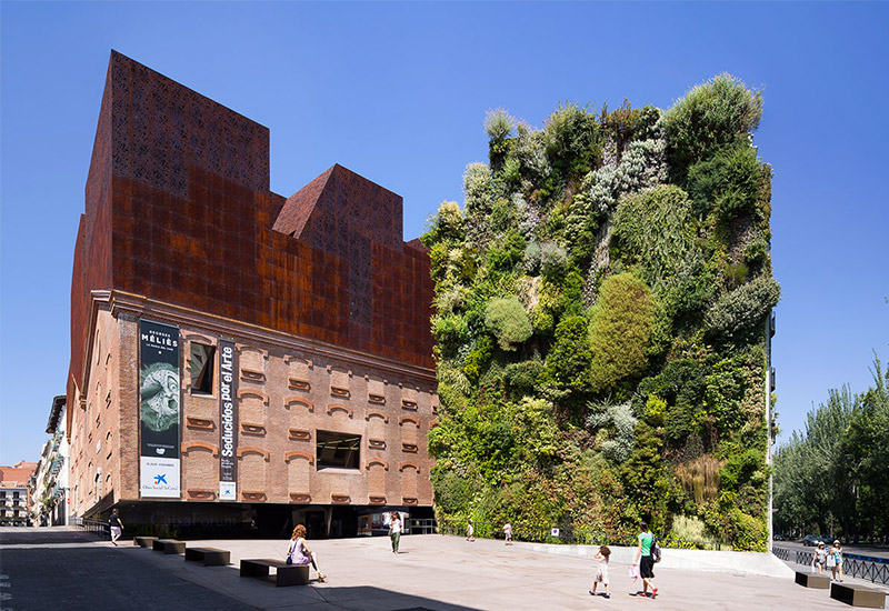 Jardín vertical Caixaforum Madrid