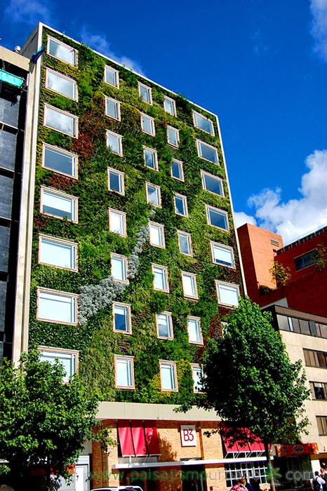 Jardín vertical en el Hotel Gaia B3, Bogotá, Colombia