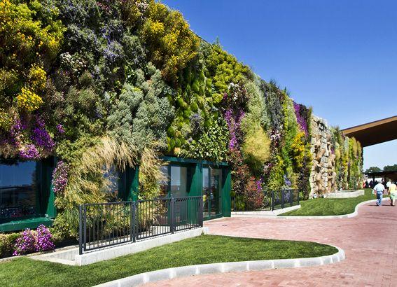 Jardín vertical más grande de Europa