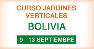 Curso de Jardines Verticales en Bolivia