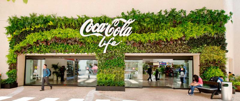 Muro verde de Paisajismo Urbano que combate la contaminación en México