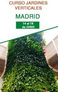 Curso profesional de jardinería vertical en Madrid. Formación con el mejor sistema constructivo del mercado.