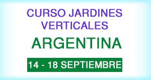 Curso jardines Verticales enArgentina