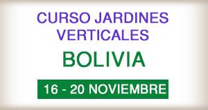 Curso Jardines Verticales en Bolivia