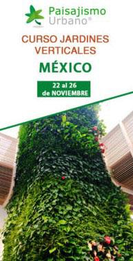 Curso profesional de jardinería vertical en México. Formación con el mejor sistema constructivo del mercado.