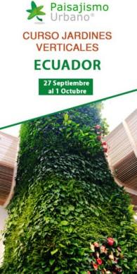 Curso Profesional de Jardines Verticales en Ecuador